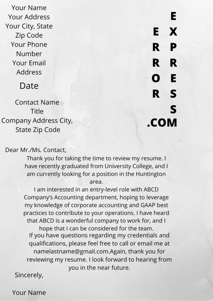 Sample of job inquiry email letter