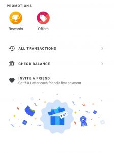 google pay tezz transaction page