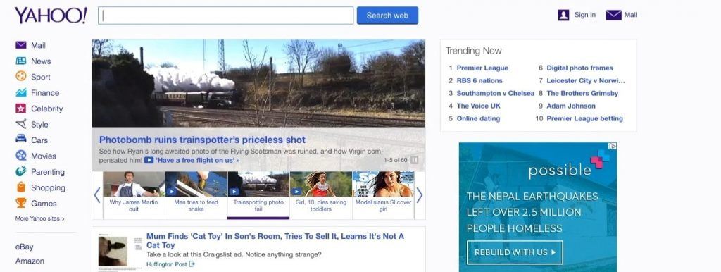 safari browser homepage