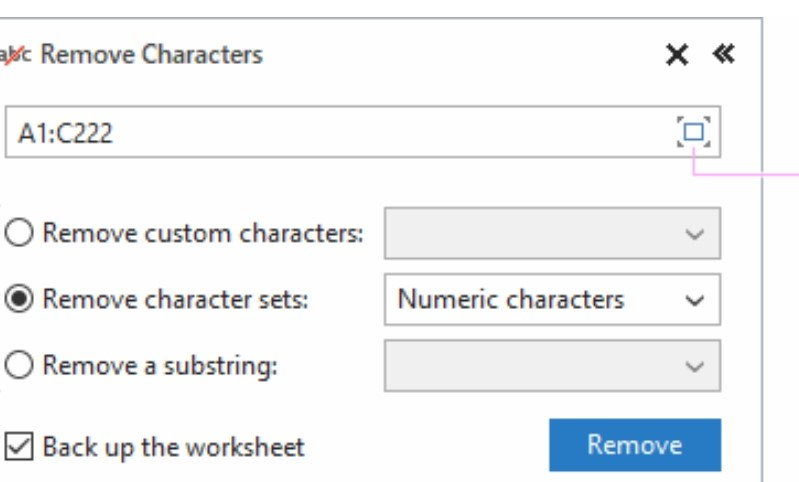 remove numeric character sets