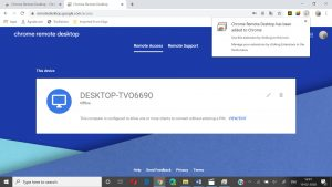 remote desktop extension with device name