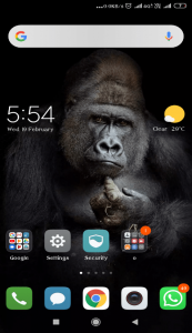 android or ios mobile screen