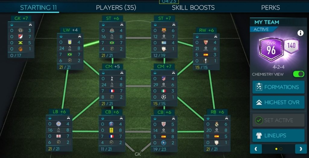 Increase Chemistry FIFA Mobile Game