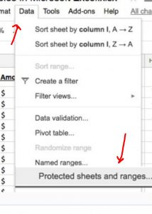 protect sheet and ranges excel sheet