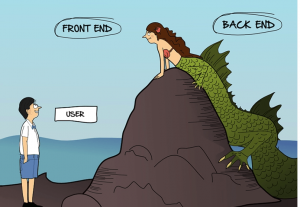 Difference between the front end and back end