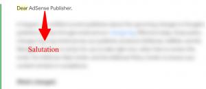 Email Salutation