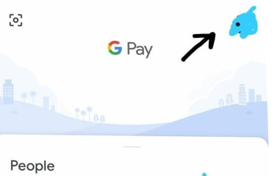 google pay(TEZ) profile option