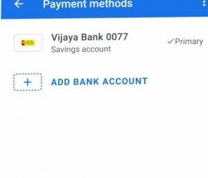 Google pay Bank Account
