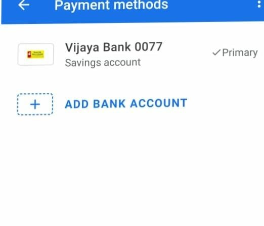 Google pay Bank Account