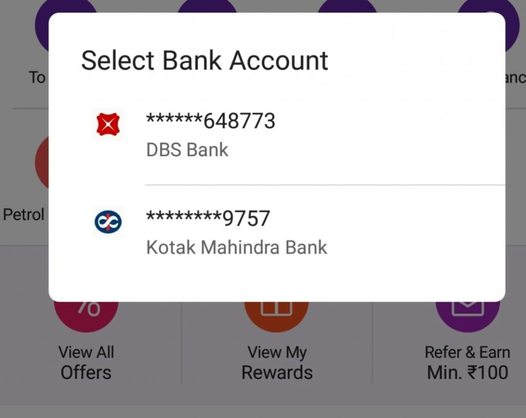 phone pe bank account balance