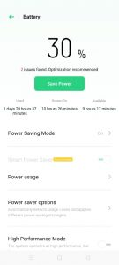 Low Battery in Android