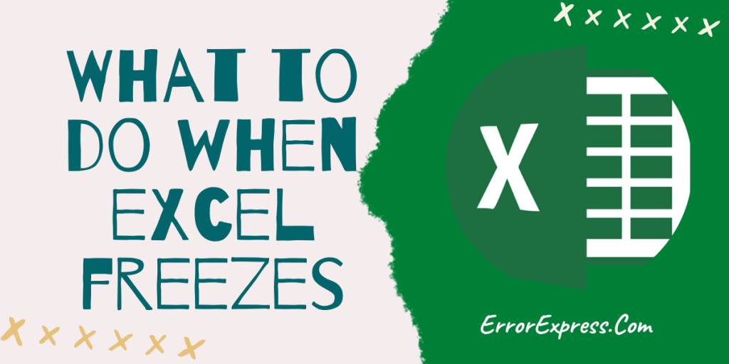 What to do when excel freezes {5 simple steps} Fix right now