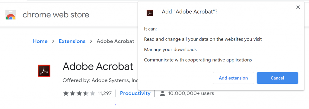 Why you should not install adobe chrome plugin or extension