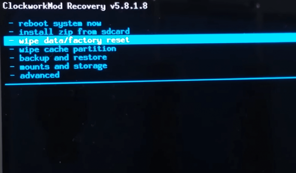 factory reset and hard reset for android mobile