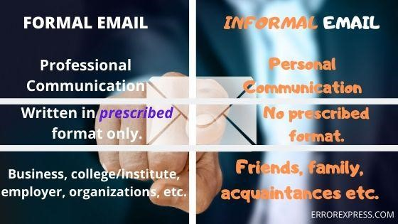 formal email and informal email
