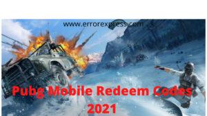 Pubg Redeem Codes 2021 100% Working