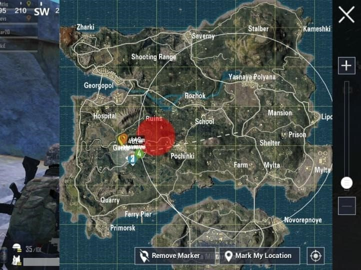 Gatka safest places land PUBG Mobile