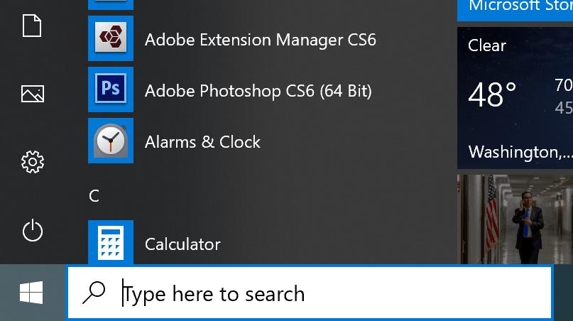 windows search box