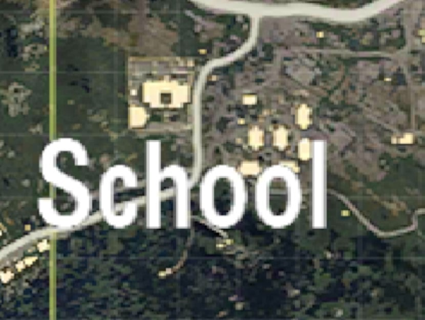 School and apartments Moderate Places to land in PUBG MOBILE