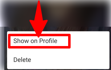 Show on profile