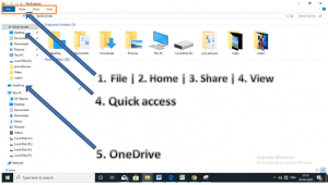 Get help with File Explorer in Window10's best features
