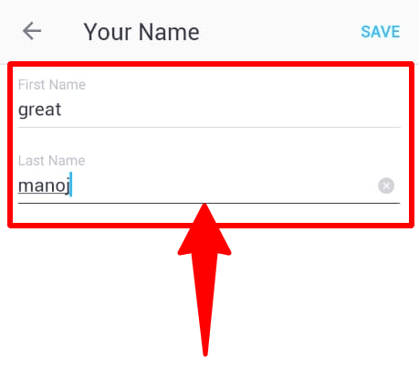 change firstname and lastname