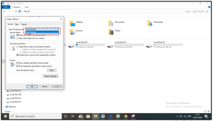 choose pc or quick access option in windows 10