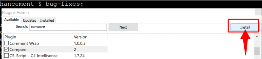 install compare plugins