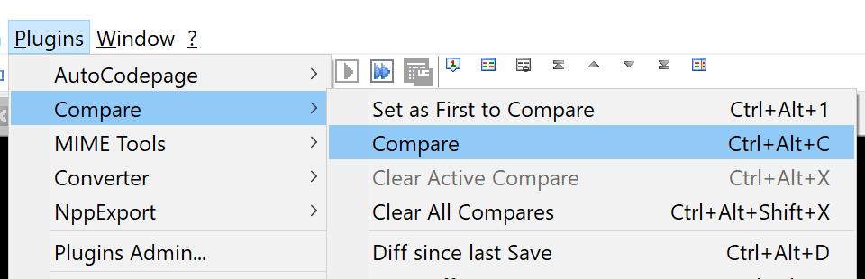 second file compare option