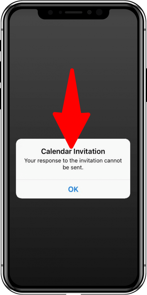 """How to fix this """"Calendar Invitation. Your Response to the Invitation Cannot Be Sent"""" error in iPad/iPhone"""