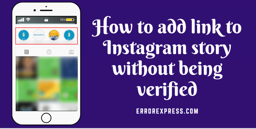 how to add link to instagram story without being verified