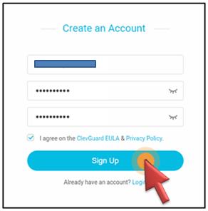KidsGuard create account