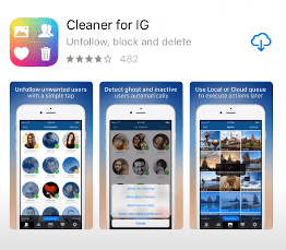 Cleaner for IG app store and play store