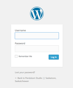 wordpress web admin login page