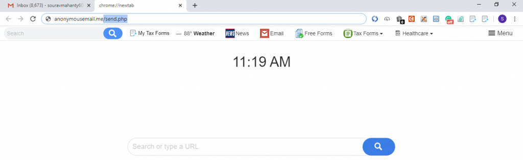 tab this Anonymusemail.me url and open browser