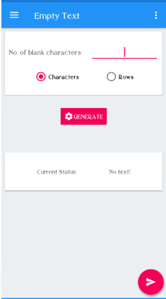 Empty text application
