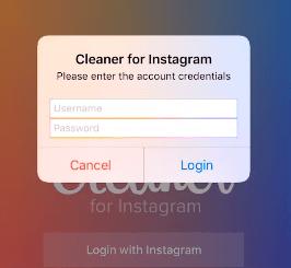 Cleaner for IG login