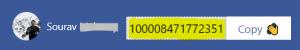 Copy the appropriate Facebook profile ID