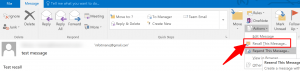 recall this message outlook