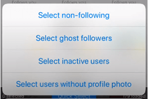 Select Inactive users option