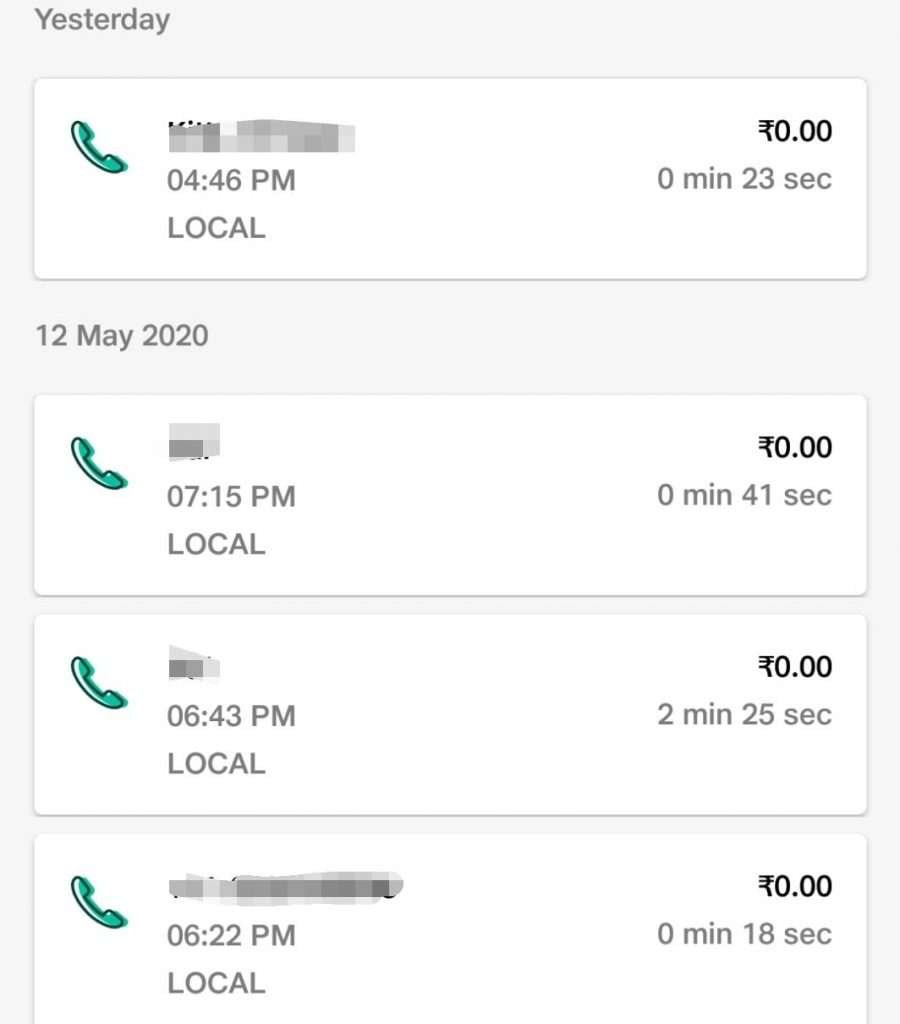 call log details local