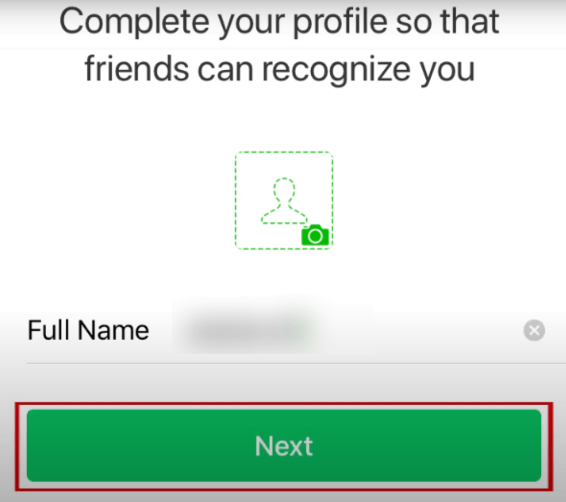 Profile completion for WeChat account