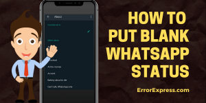 How to Set up your Blank/Empty WhatsApp Status