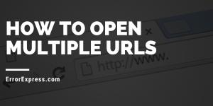 How to open multiple URLs?? Best multiple url opener!!!