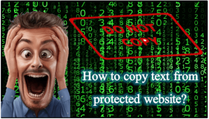 How to copy text from protected website