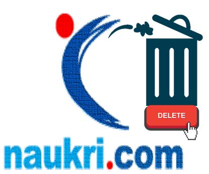 How to delete Naukri account