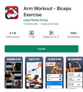 Arm workout android app