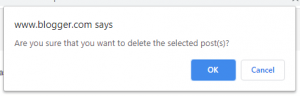 delete blog confirmation box
