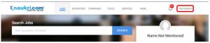 My naukri account page in naukri.com
