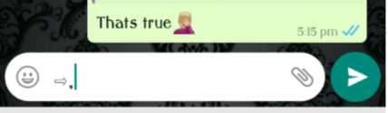 copy the Unicode symbol characters in whatsapp